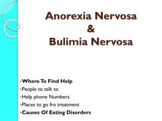 Case study about anorexia nervosa meaning